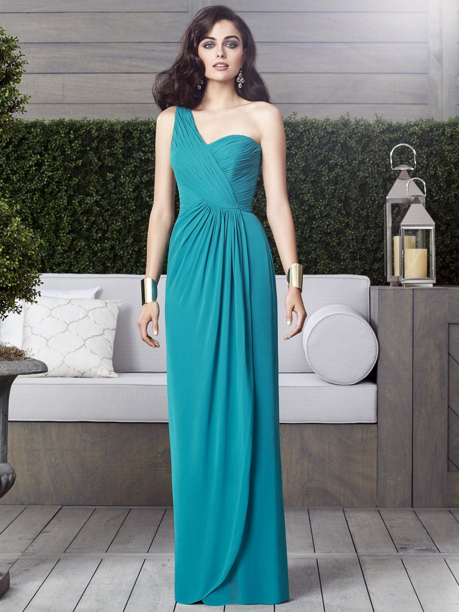 Dessy Collection 2905 One Shoulder Draped Bridesmaid Gown: French ...