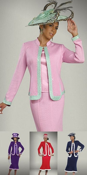 f055cf25bcf Donna Vinci Knits 2906 Womens Church Suit  French Novelty