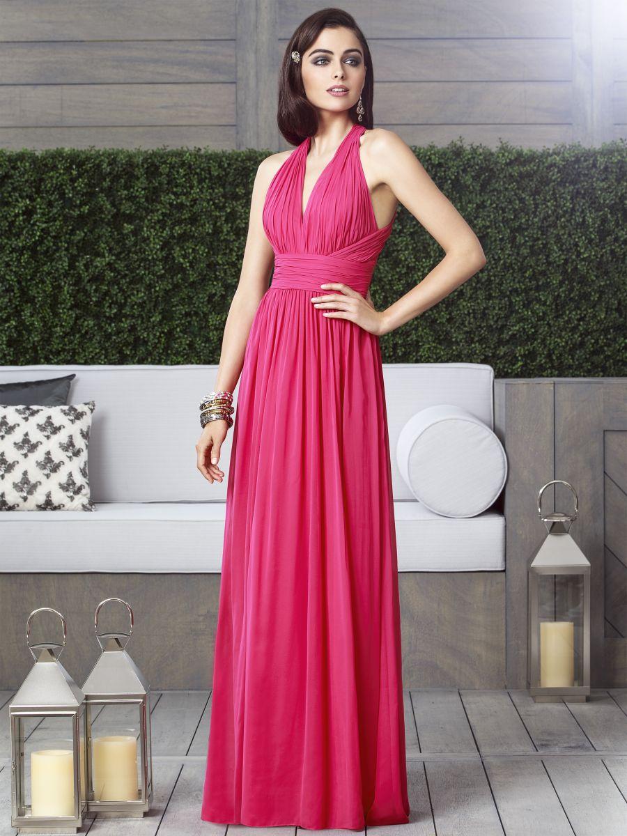 Dessy Collection 2908 Halter Chiffon Long Bridesmaid Dress: French ...