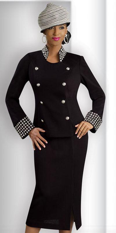 Donna Vinci Knits : Donna Vinci Knits 2912 Womens Novelty Church Suit: French Novelty