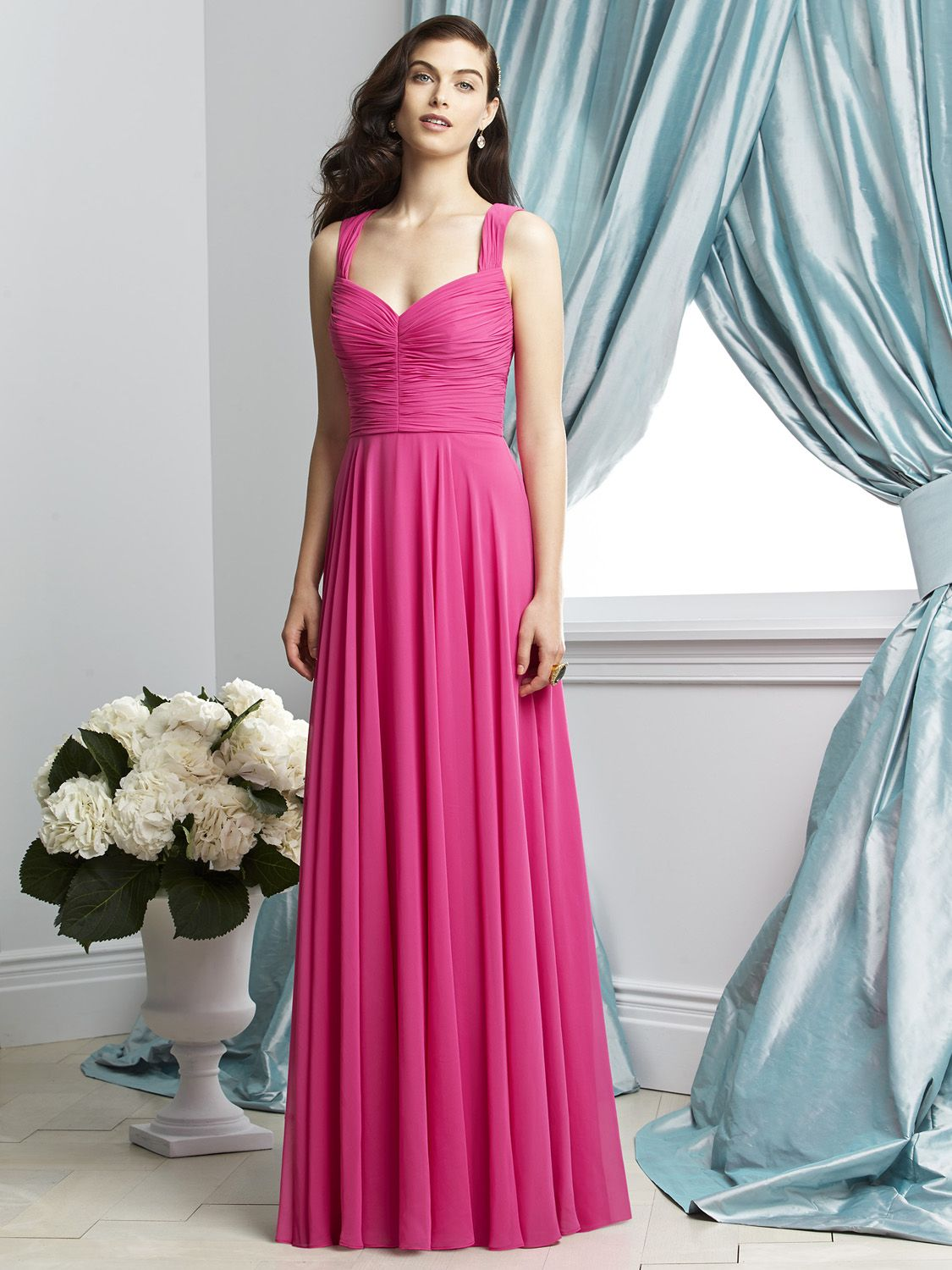 Dessy collection 2929 shirred chiffon bridesmaid dress french novelty ombrellifo Choice Image