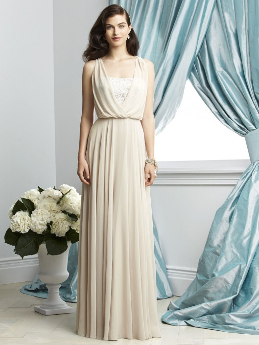 e50761076cd65 Dessy Collection 2934 Chiffon Bridesmaid Gown with Lace: French Novelty