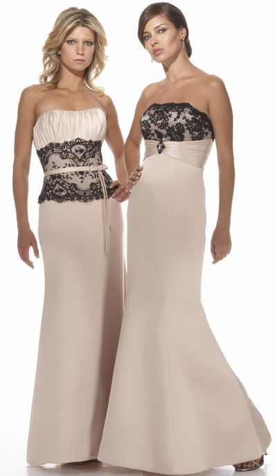 Alexia Designs Long Satin Bridesmaid Dress with Lace 2938: French ...