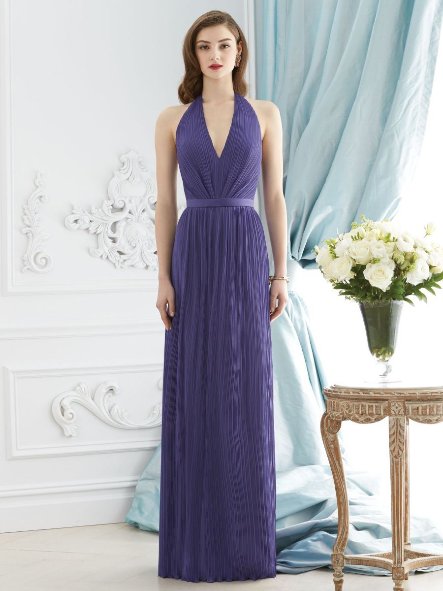 Dessy Collection 2941 Halter Bridesmaid Gown: French Novelty