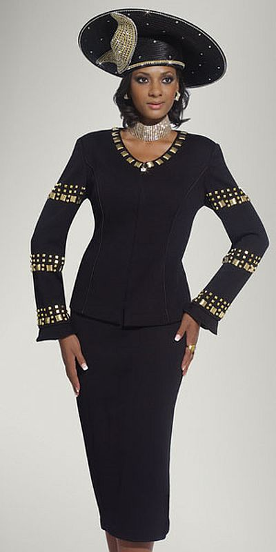 Donna Vinci Knits Womens Church Suit 2945 French Novelty