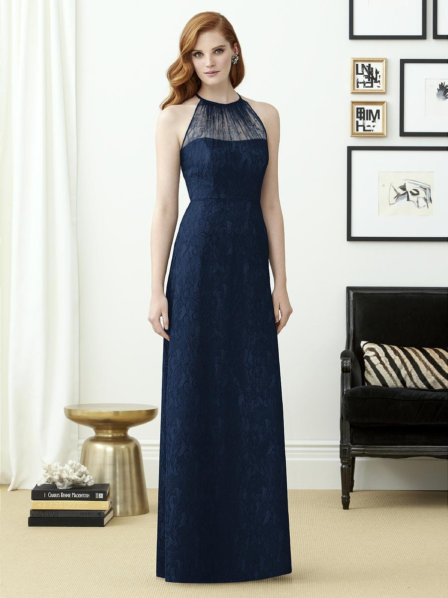 Dessy Collection 2953 Lace Halter Bridesmaid Gown: French Novelty