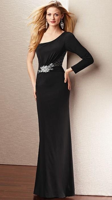 Alyce Jean De Lys 29534 Sophisticated One Sleeve Evening Dress ...