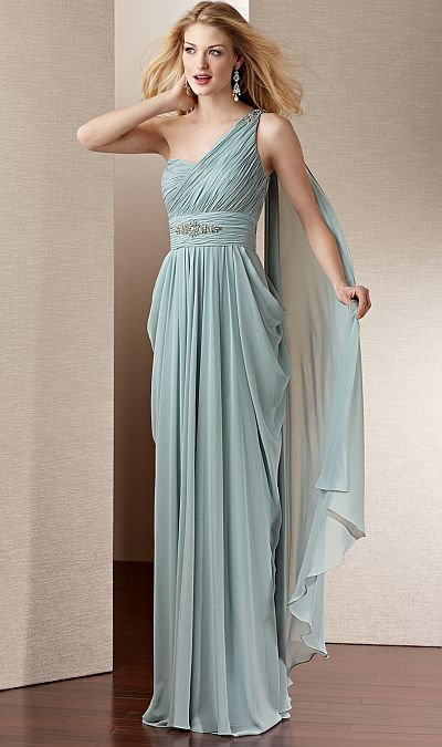 Goddess Long Chiffon Dress