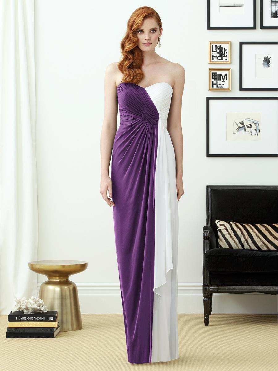 Dessy Collection 2956 Two Tone Chiffon Bridesmaid Gown: French Novelty