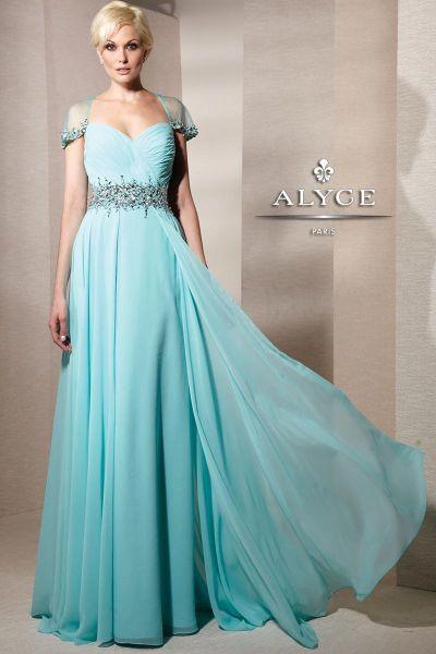 Cap Sleeve Evening Dresses
