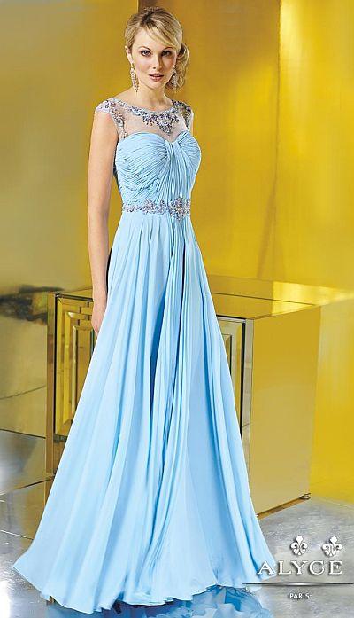 Alyce Jean De Lys 29618 Flowy Silky Chiffon Evening Dress