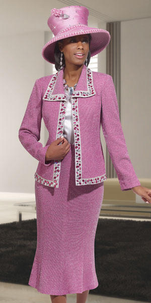 Donna Vinci Knits 2965 Womens 3pc Church Suit French Novelty