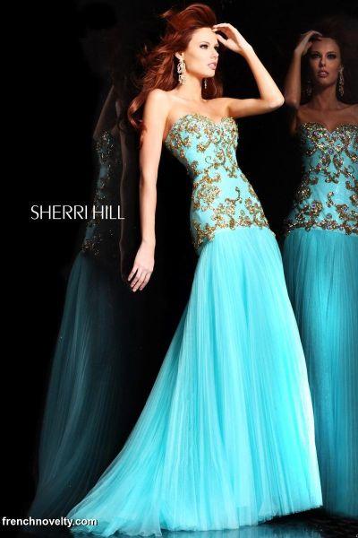 Sherri Hill 2973 Mermaid Gown French Novelty
