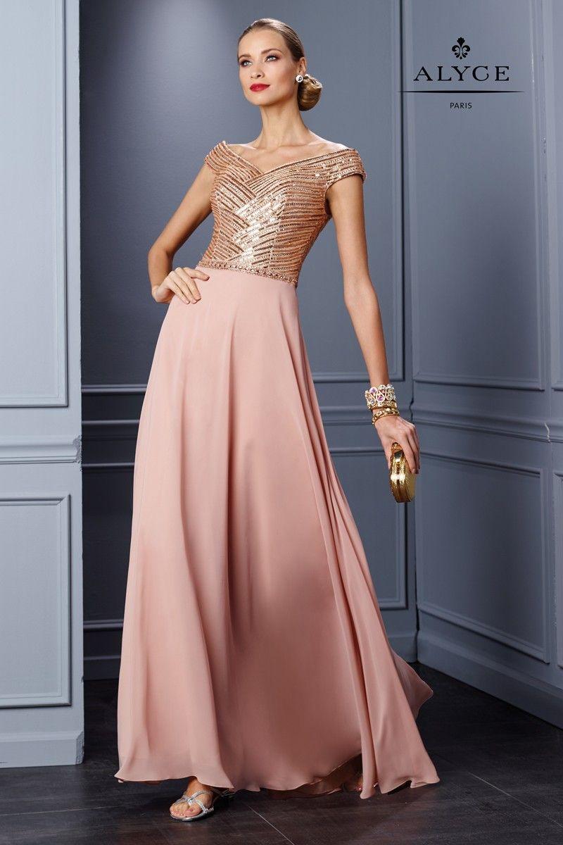 Alyce Jean De Lys 29772 Off Shoulder Formal Dress With