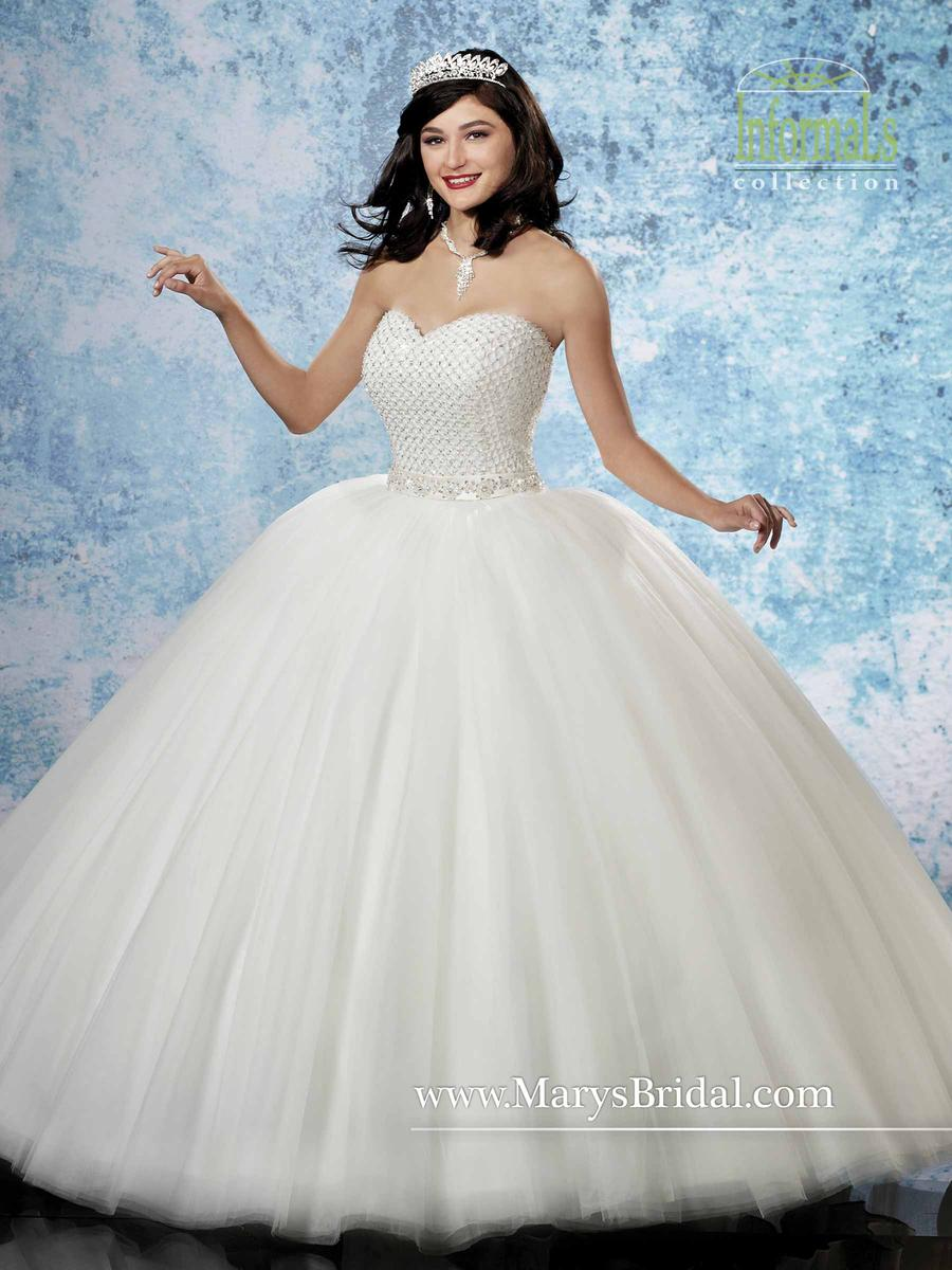Marys bridal 2b795 informal ball gown with bolero french for Informal wedding dresses under 100
