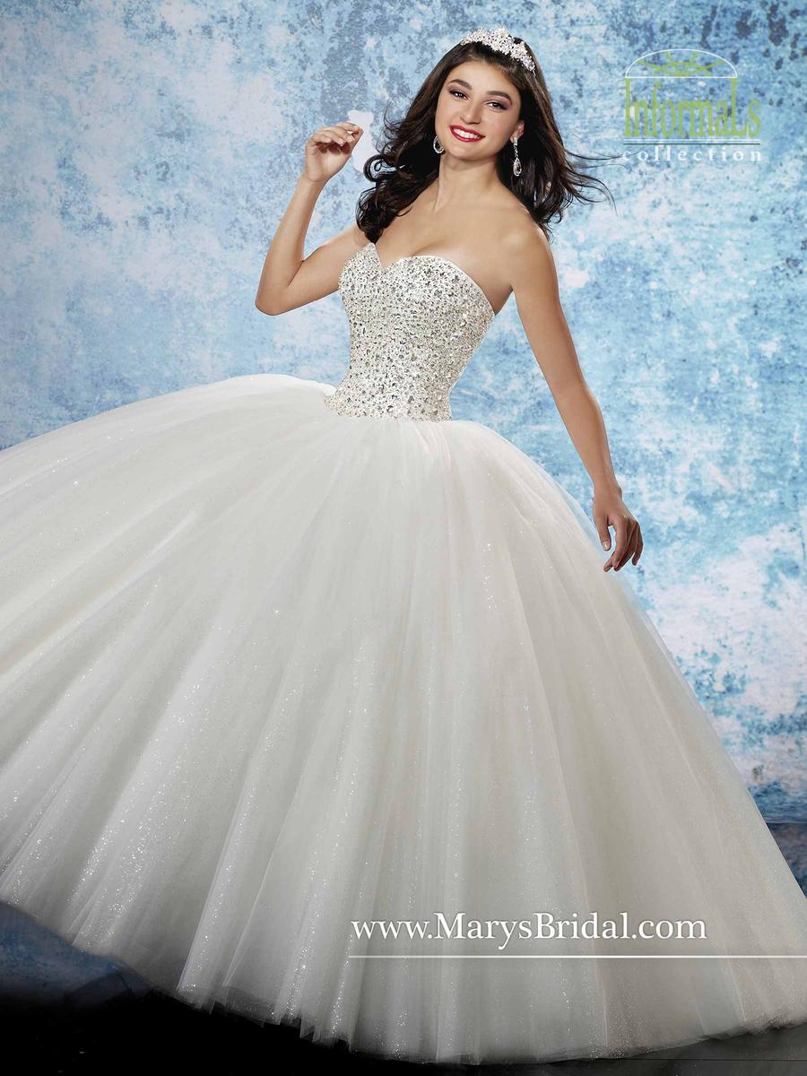 Marys Bridal Informal 2B800 Shimmering Tulle Ballgown: French Novelty