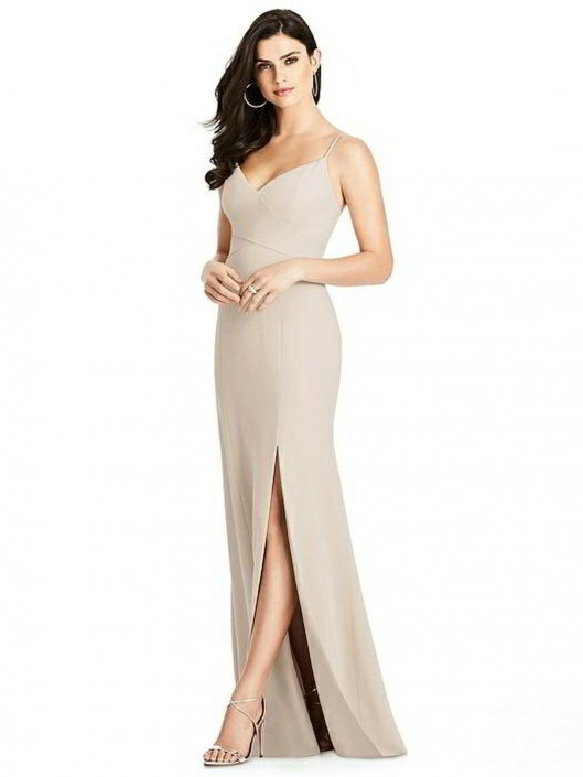 aa1f11613a06 Dessy Collection 3013 Flattering Crepe Bridesmaid Dress: French Novelty