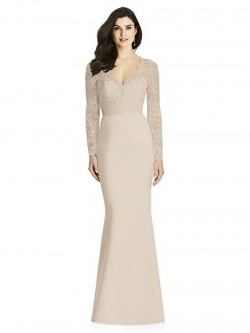 f2350855b326 Dessy Collection 3014 Long Sleeve Lace Bridesmaid Dress