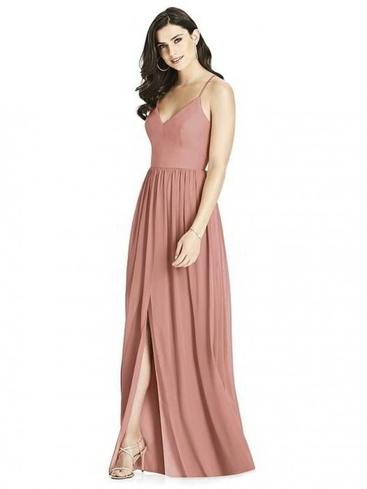 Dessy Collection 3019 Lux Chiffon Bridesmaid Dress
