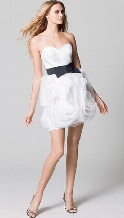 Wtoo Maids 302 Short Crystal Organza Bridesmaid Dress: French Novelty