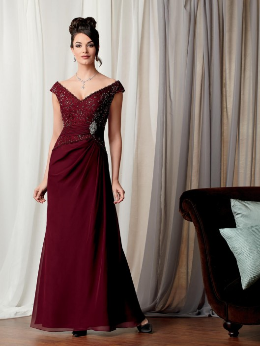 Caterina 3029 Off The Shoulder Formal Dress French Novelty