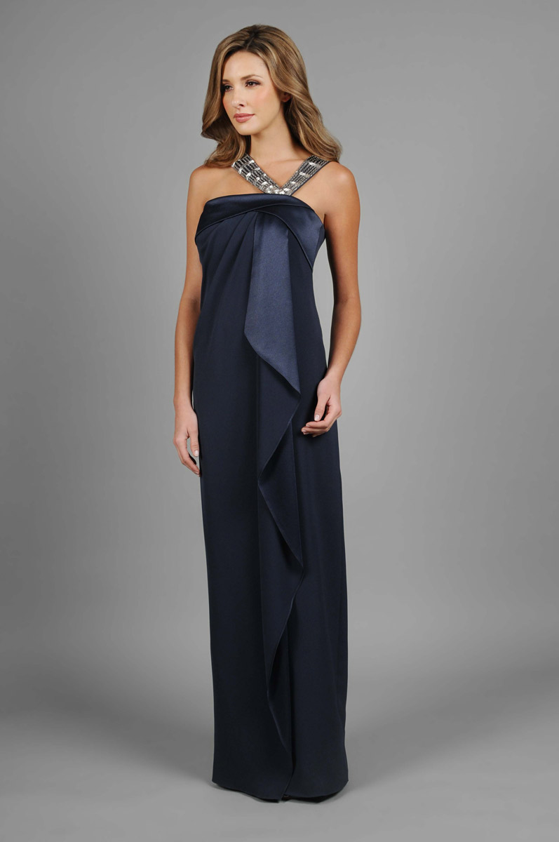 Daymor Couture 303 Draped Asymmetrical Mothers Dress ...