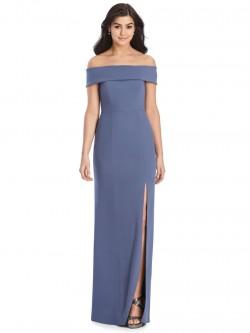 f51a63523175 Dessy 3030 Off Shoulder Crepe Bridesmaid Dress