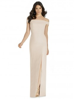 9a822c5710 Dessy 3040 Off Shoulder Bow Back Bridesmaid Dress