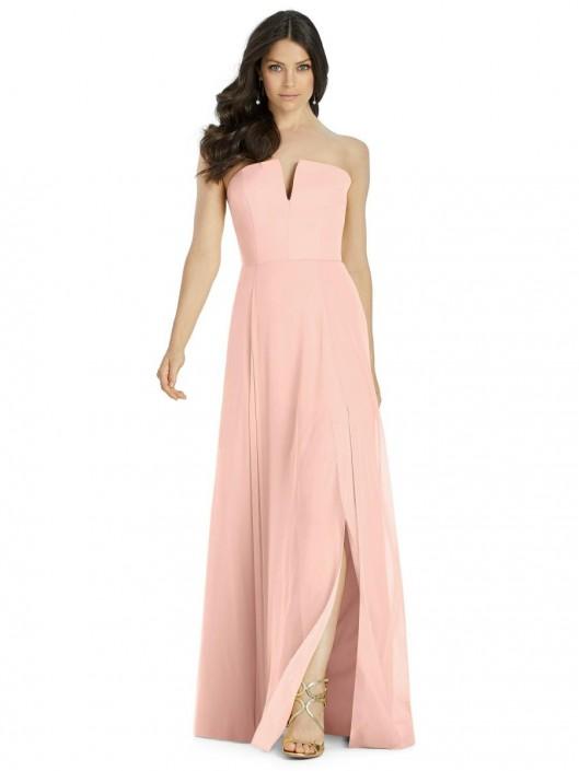 849ce7675719 Dessy 3041 Lux Chiffon Bridesmaid Dress: French Novelty