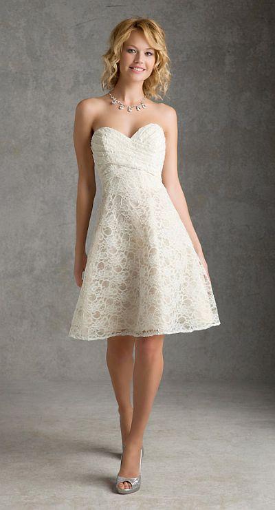 Mori Lee 31034 Affairs Short Lace Bridesmaid Dress French