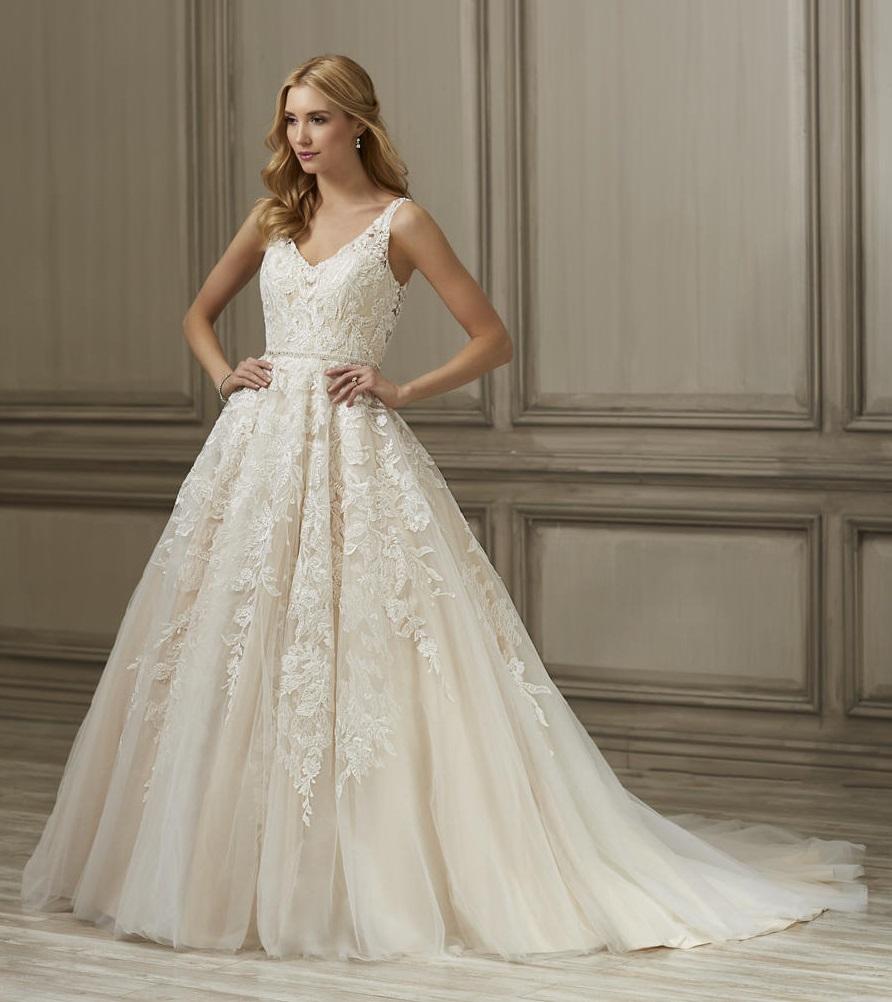 Platinum Wedding Gown: Adrianna Papell Platinum 31093 Ember Wedding Dress: French