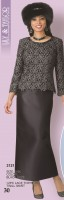 Lily and Taylor 3121 Womens Lace and Silky Twill Suit image