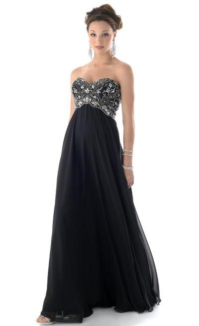 Mystique Chiffon Prom Dress with Beaded Bodice 3127: French Novelty