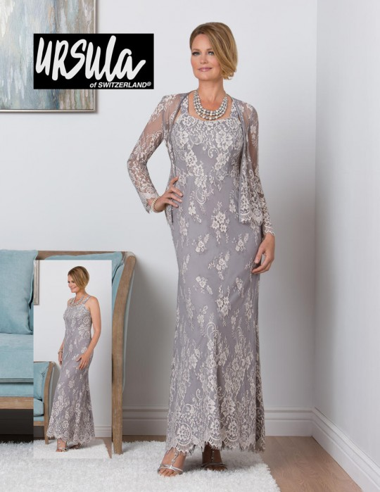d8143c84ace Ursula 31446 Lace Mother of the Bride Gown with Jacket  French Novelty