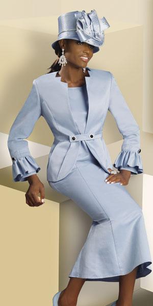 Lisa Rene by Donna Vinci Womens Light Blue Church Suit 3176 ...