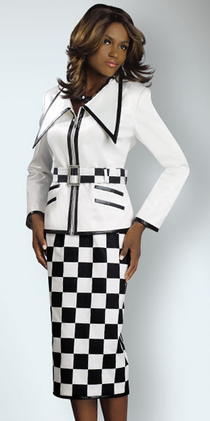 Lisa Rene by Donna Vinci Womens White Black Church Suit 3186 ...