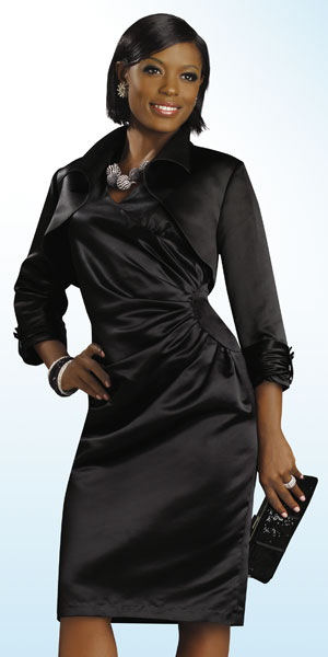 Lisa Rene By Donna Vinci Womens Black Church Suit 3189 French Novelty