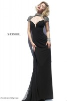 Sherri Hill 32012 Cap Sleeve Formal Dress image