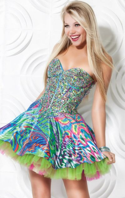 Jovani Colorful Homecoming Party Dress 3202: French Novelty