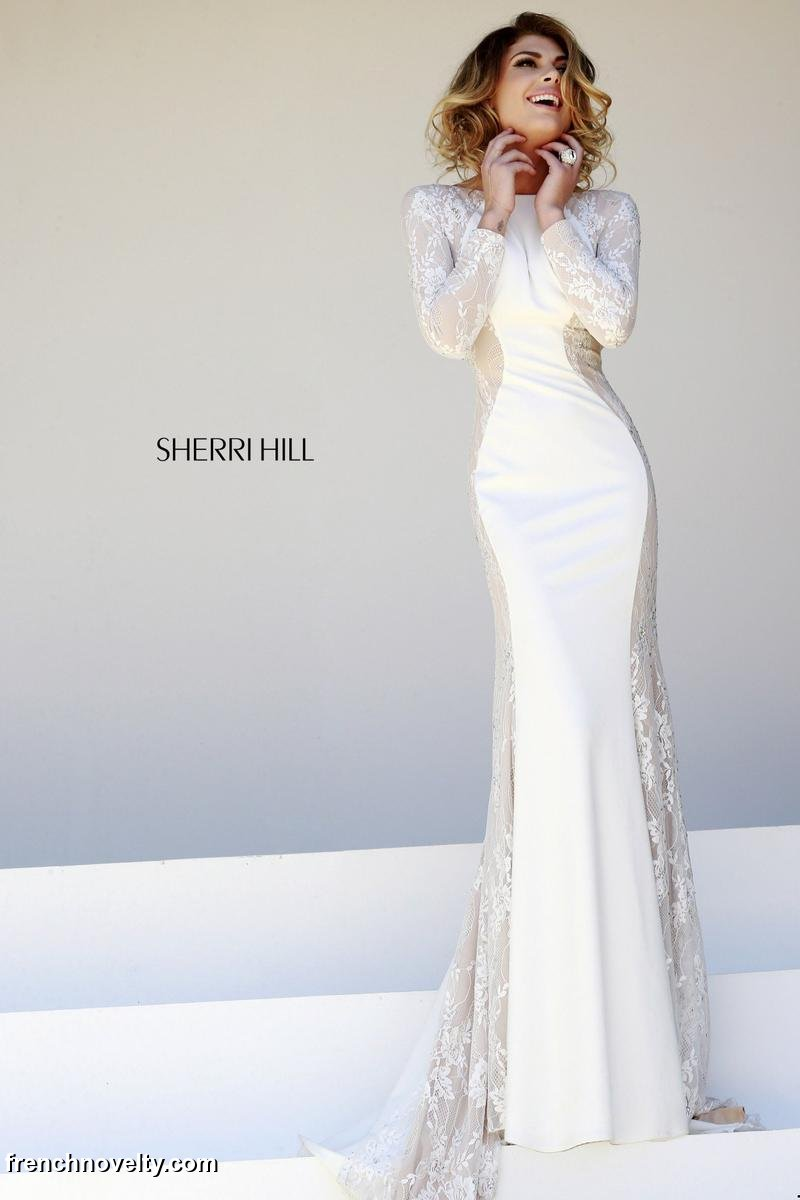 Sherri Hill 32027 Long Sleeve Gown: French Novelty