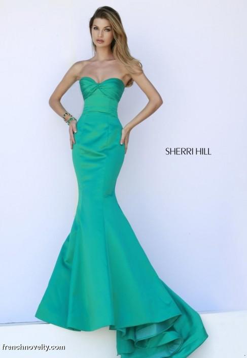 Blue Sherri Hill Mermaid Prom Dress