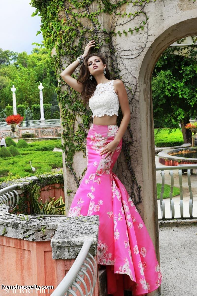 bc901ee4bae Sherri Hill 32073 2pc Floral Print Mermaid Dress  French Novelty