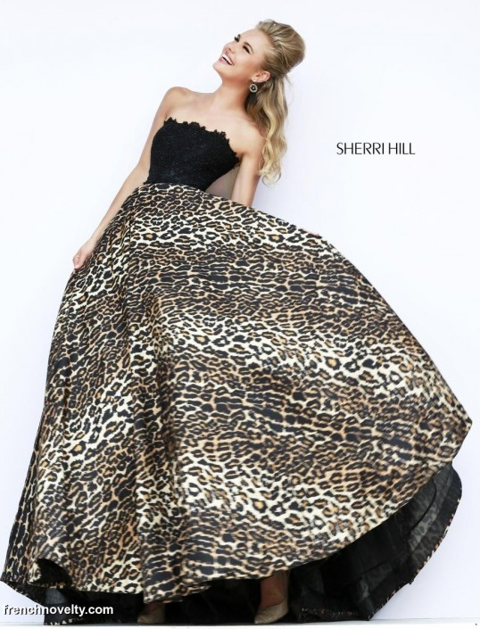 Sherri Hill 32100 Leopard Print Gown: French Novelty