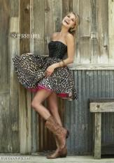ed1cac7c3c85c Size 4 Black-Leopard Sherri Hill 32146 Short Print Prom Dress