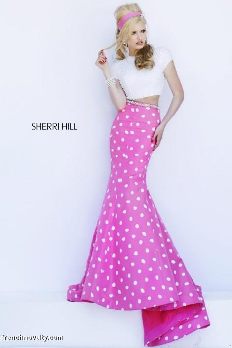 7b7bfa480e2 Sherri Hill 32226 2pc Mermaid Dress with Polka Dots  French Novelty