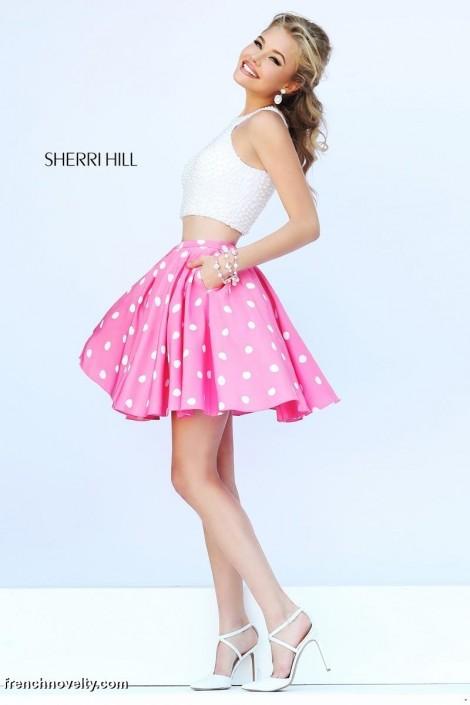 cd012ac68ef Sherri Hill 32244 2pc Polka Dot Short Dress  French Novelty