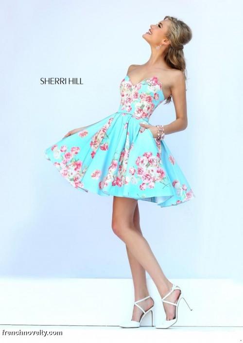 Sherri hill 32246 floral short dress with pockets french novelty sherri hill 32246 floral short dress with pockets mightylinksfo