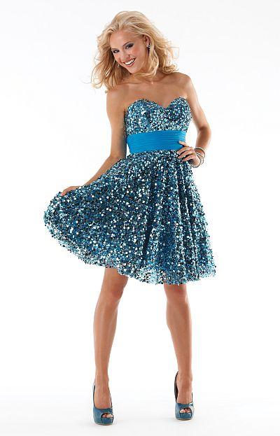 Mystique Short Sequin Tulle Prom Dress 3231 by Bonny Bridal ...