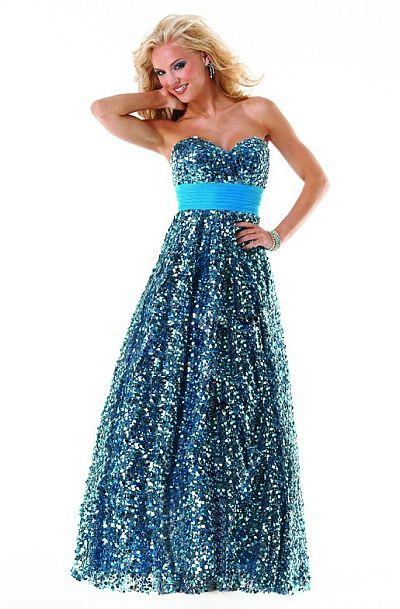 Mystique Long Sequin Tulle Prom Dress 3231L by Bonny Bridal ...