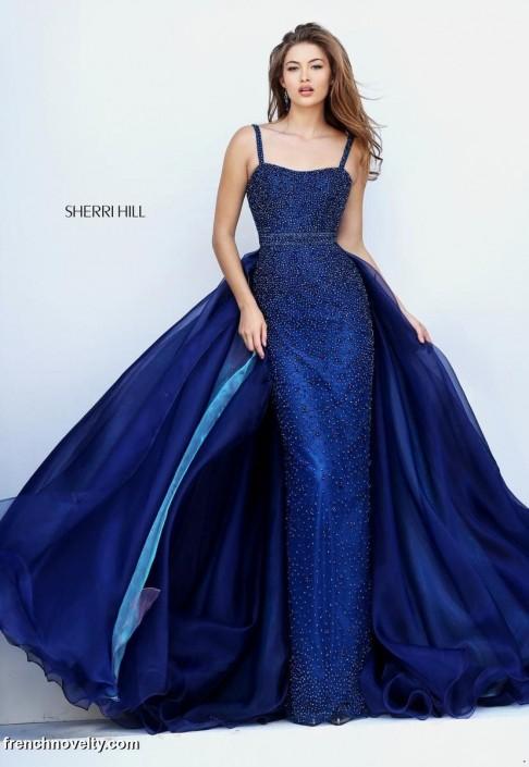 2f49915f Sherri Hill 32346 Spaghetti Strap Prom Gown: French Novelty